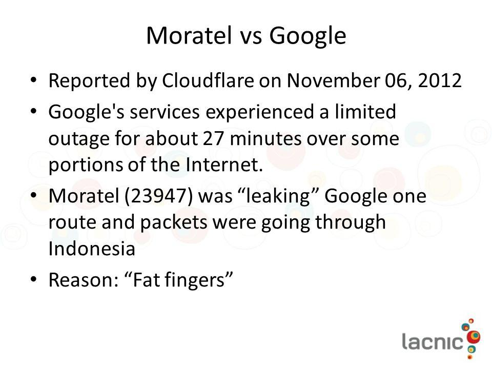 Moratel vs Google Reported by Cloudflare on November 06, 2012