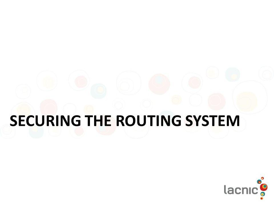 Securing the routing system