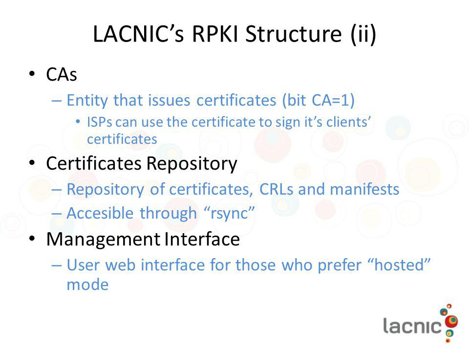 LACNIC's RPKI Structure (ii)