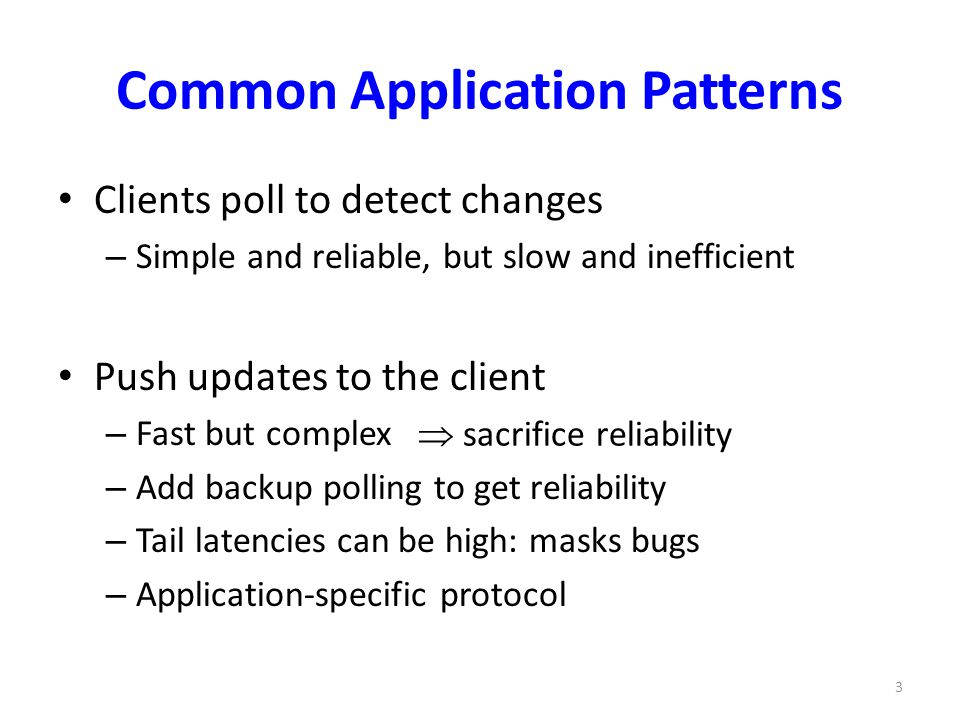 Common Application Patterns