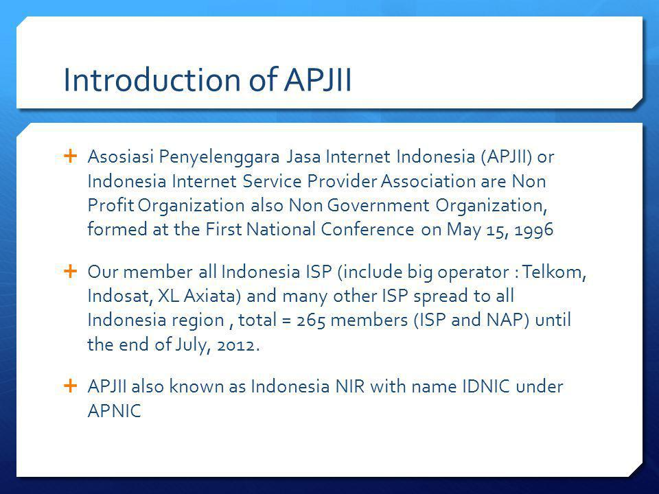 Introduction of APJII