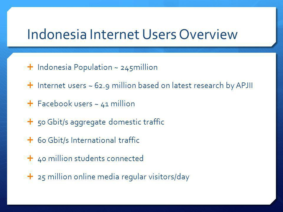Indonesia Internet Users Overview