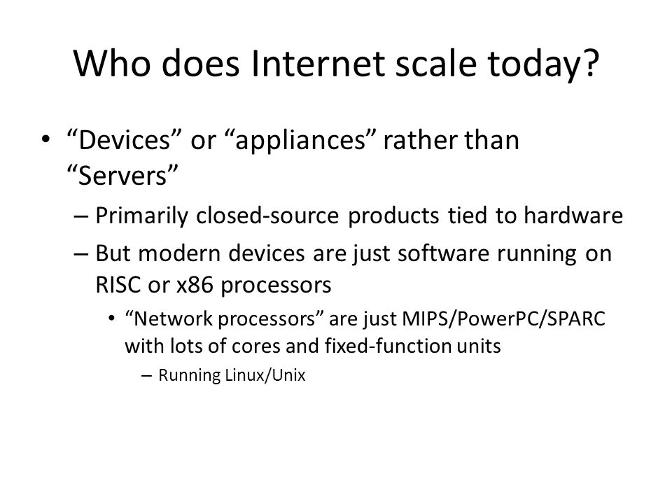 Who does Internet scale today