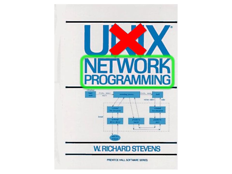 How many people know this textbook Unix Network Programming by Richard Stevens (wait for most of audience to raise their hands).