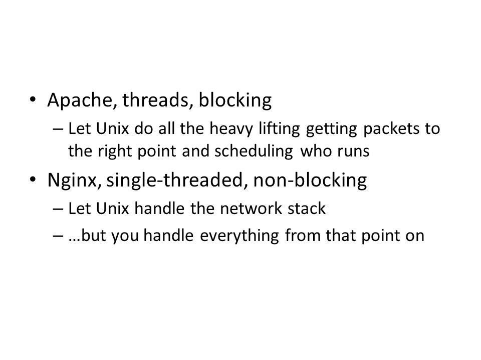 Apache, threads, blocking