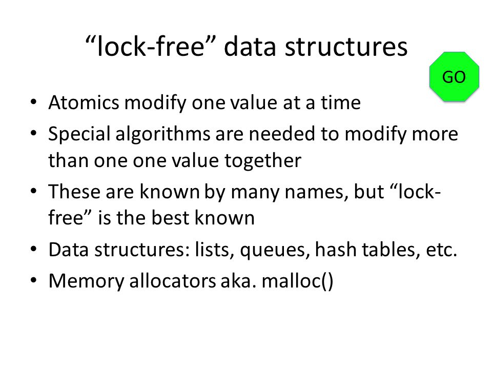 lock-free data structures