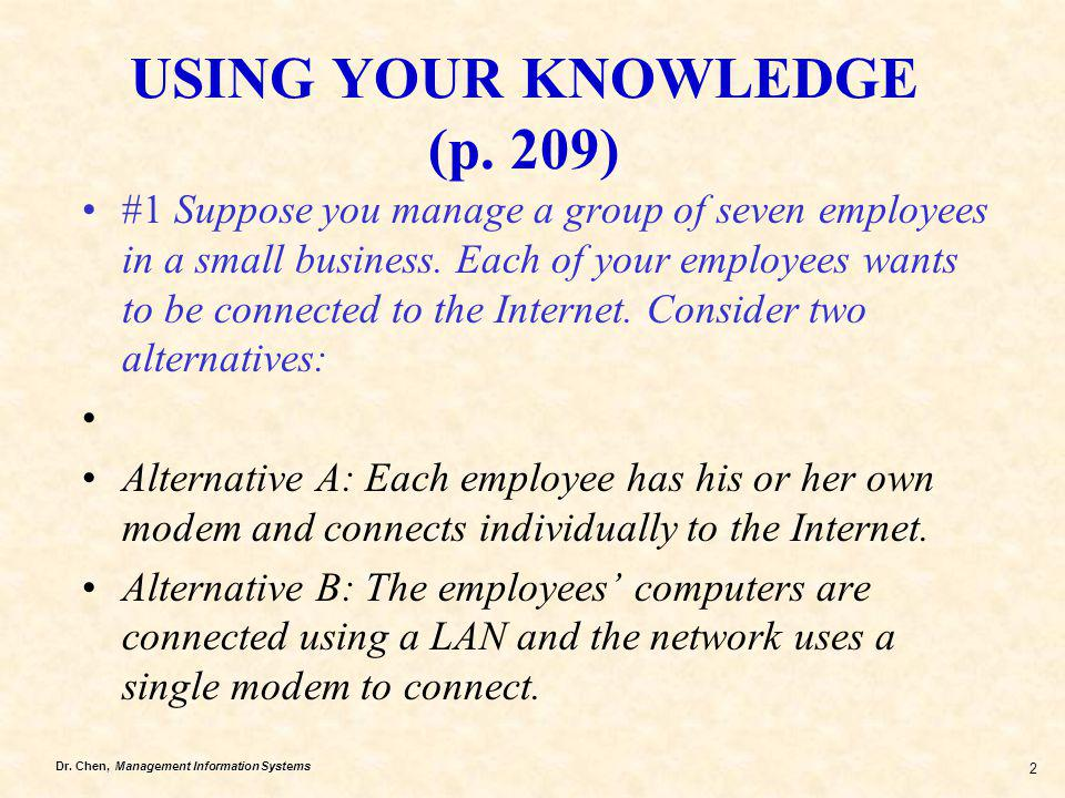 USING YOUR KNOWLEDGE (p. 209)