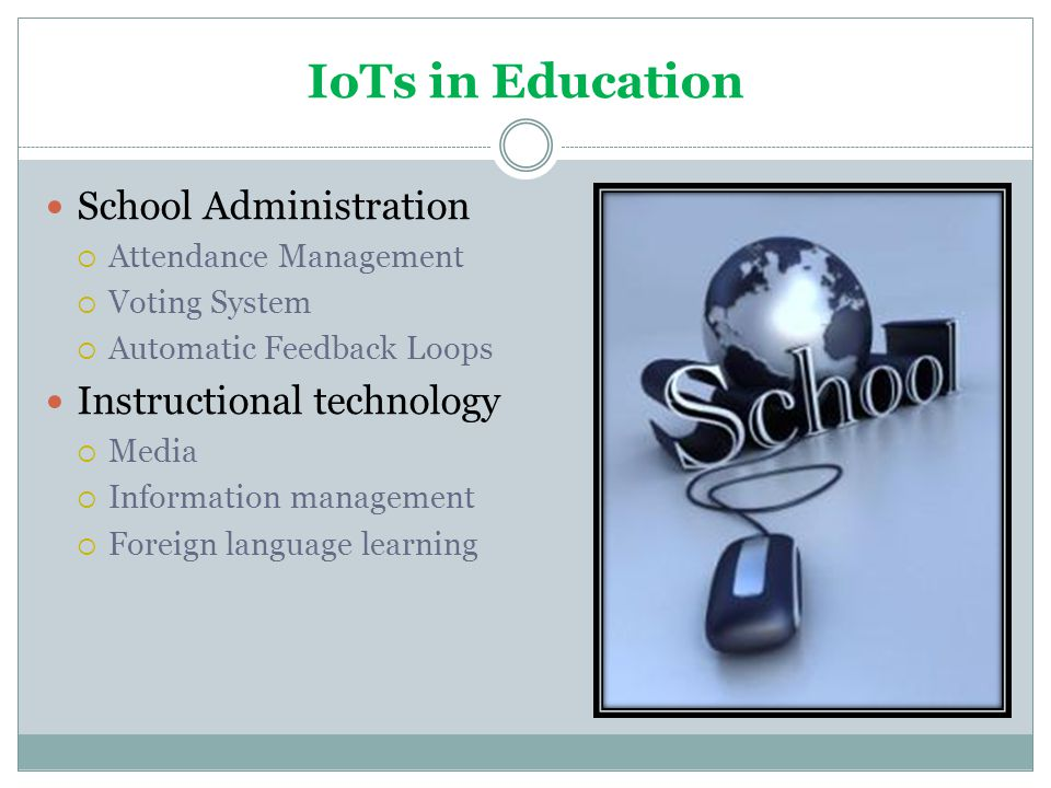 IoTs in Education School Administration Instructional technology