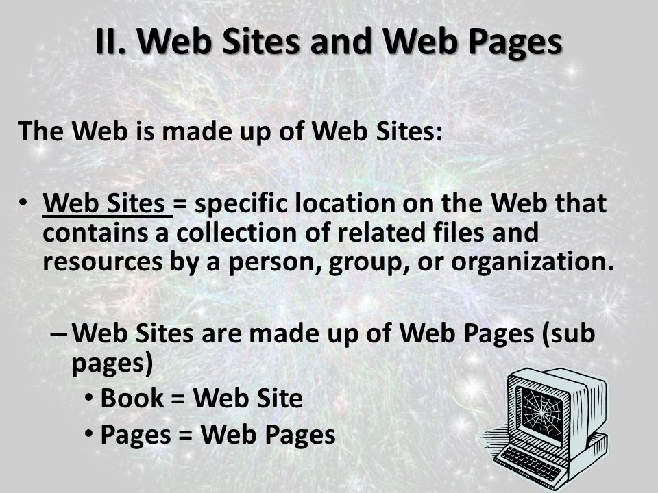 II. Web Sites and Web Pages