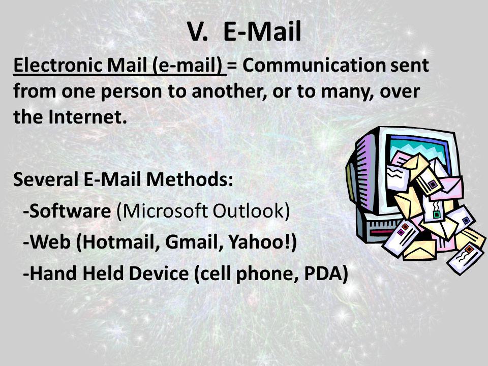 V. E-Mail