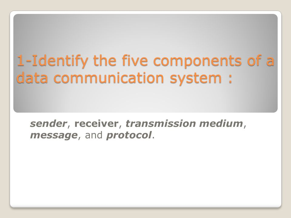 Data Communication System : Exercises and solutions lecture ppt video online download