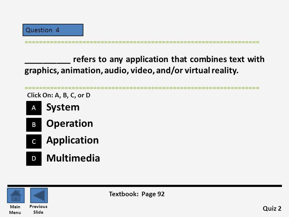 System Operation Application Multimedia