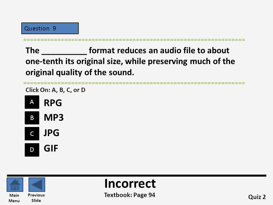 Incorrect RPG MP3 JPG GIF