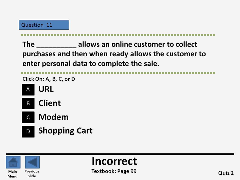 Incorrect URL Client Modem Shopping Cart