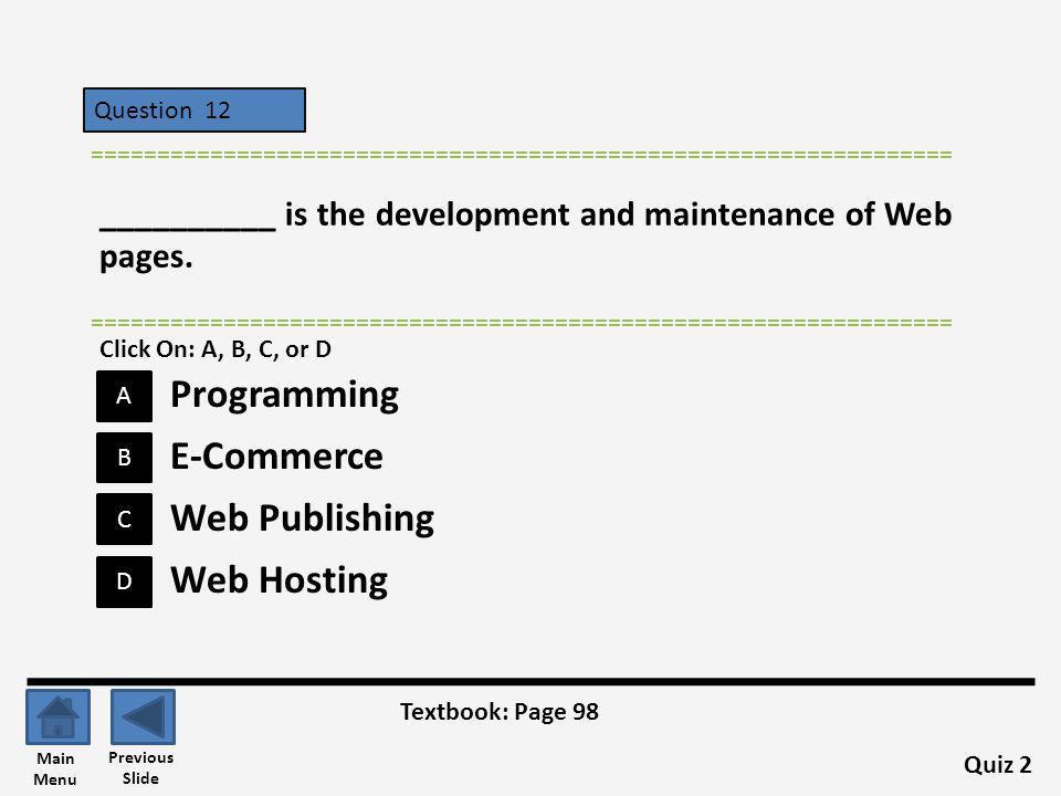 Programming E-Commerce Web Publishing Web Hosting