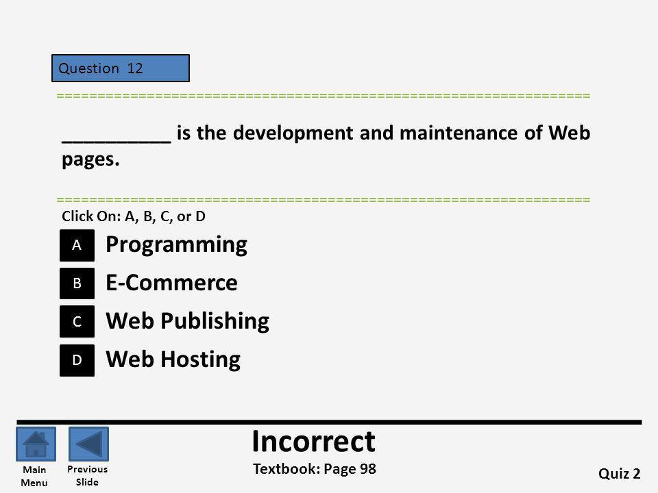 Incorrect Programming E-Commerce Web Publishing Web Hosting
