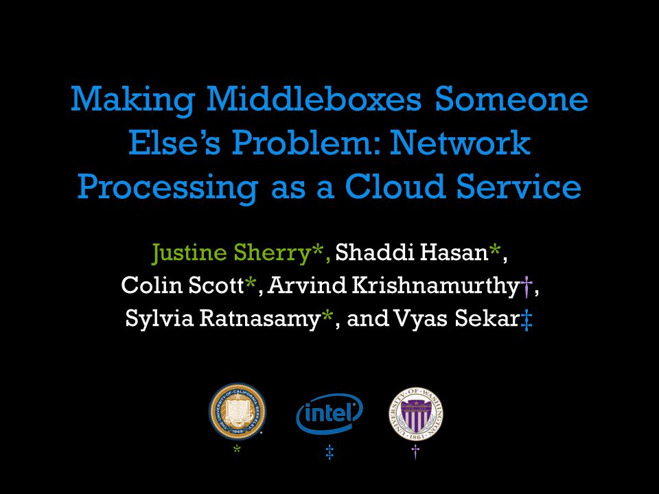 Making Middleboxes Someone Else's Problem: Network Processing as a Cloud Service