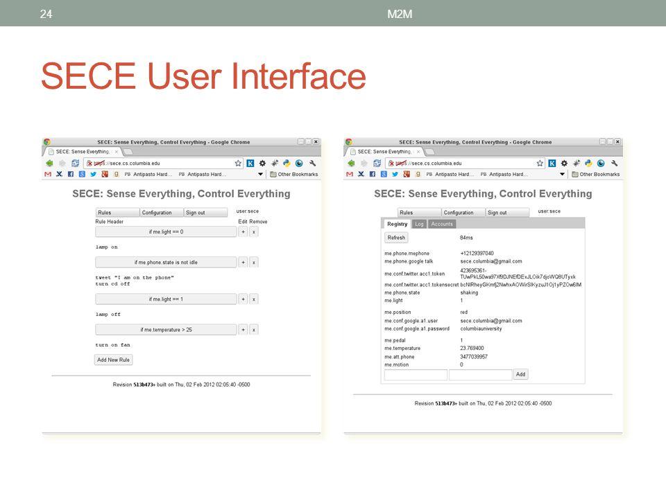 M2M SECE User Interface
