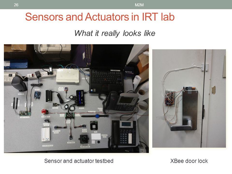 Sensors and Actuators in IRT lab