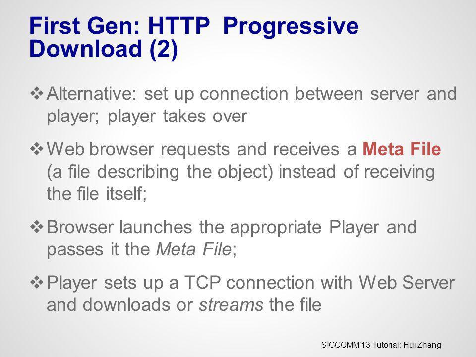 First Gen: HTTP Progressive Download (2)