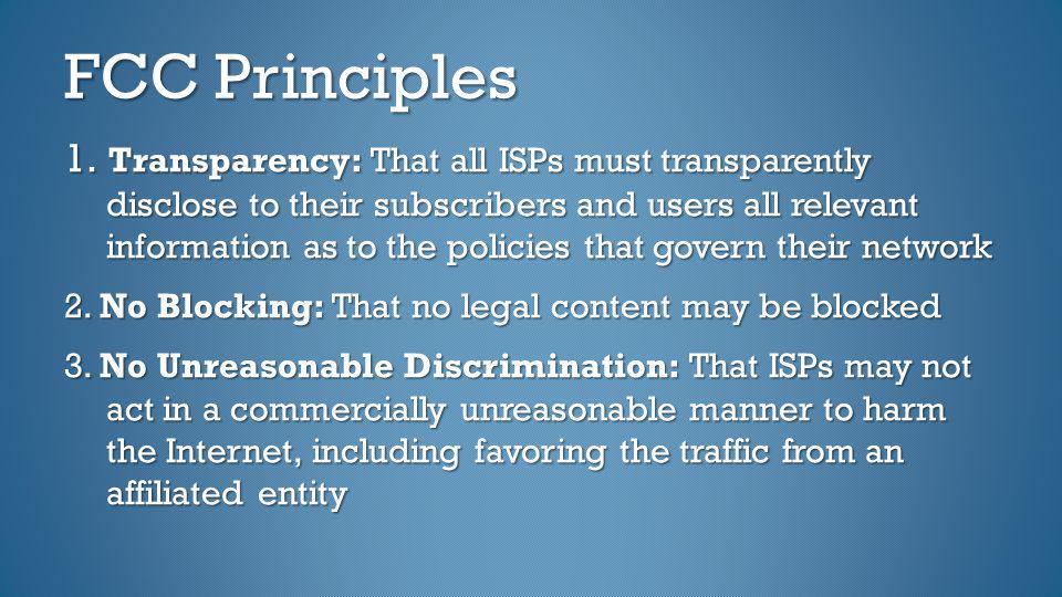 FCC Principles