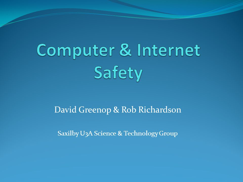 Computer & Internet Safety