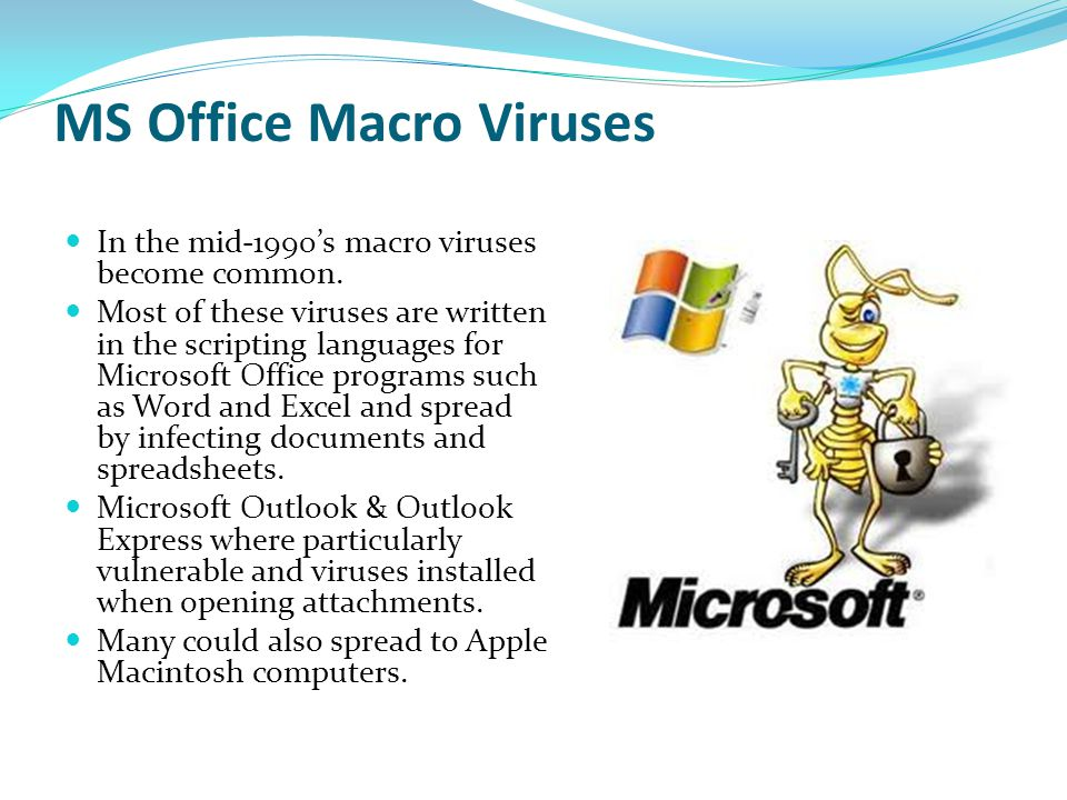 MS Office Macro Viruses