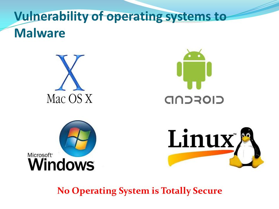 Vulnerability of operating systems to Malware
