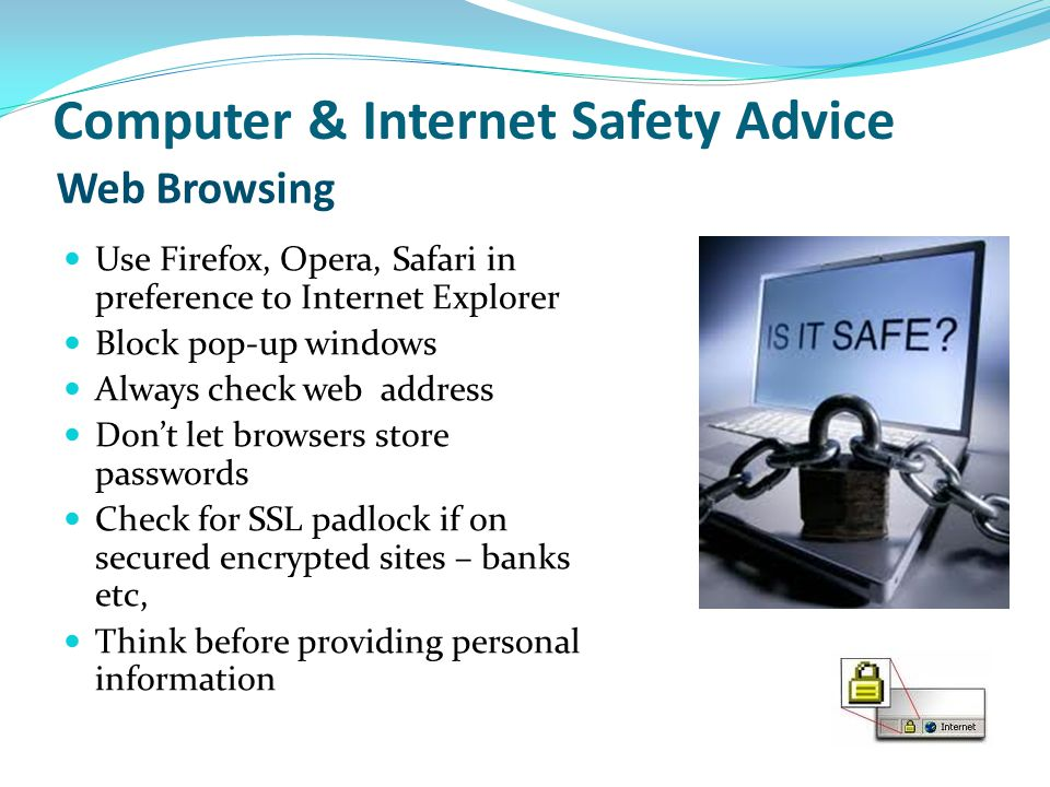 Computer & Internet Safety Advice