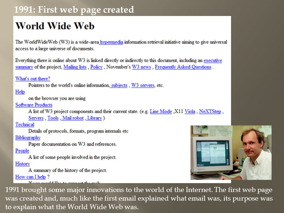 1991: First web page created