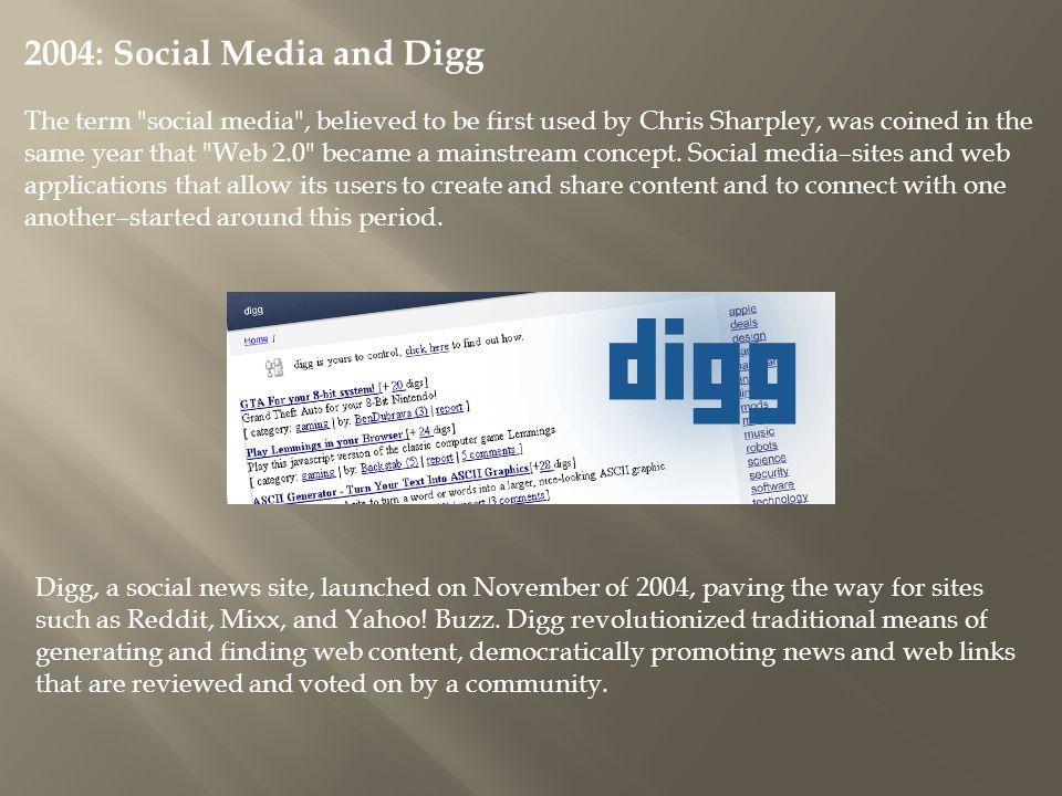 2004: Social Media and Digg
