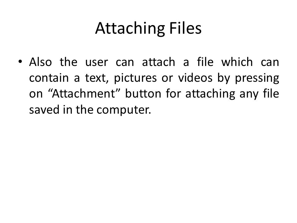 Attaching Files
