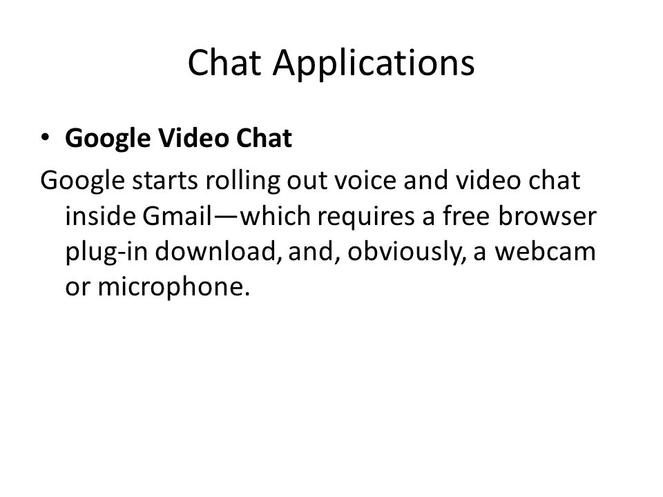 Chat Applications Google Video Chat
