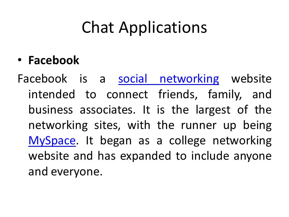 Chat Applications Facebook