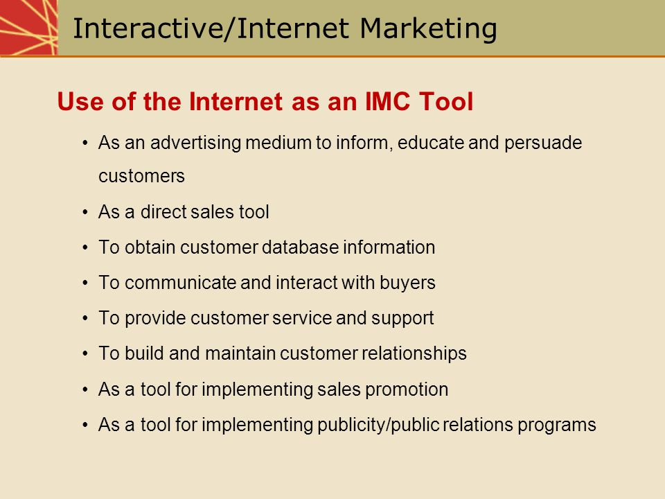 Interactive/Internet Marketing