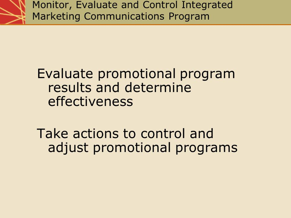 Evaluate promotional program results and determine effectiveness