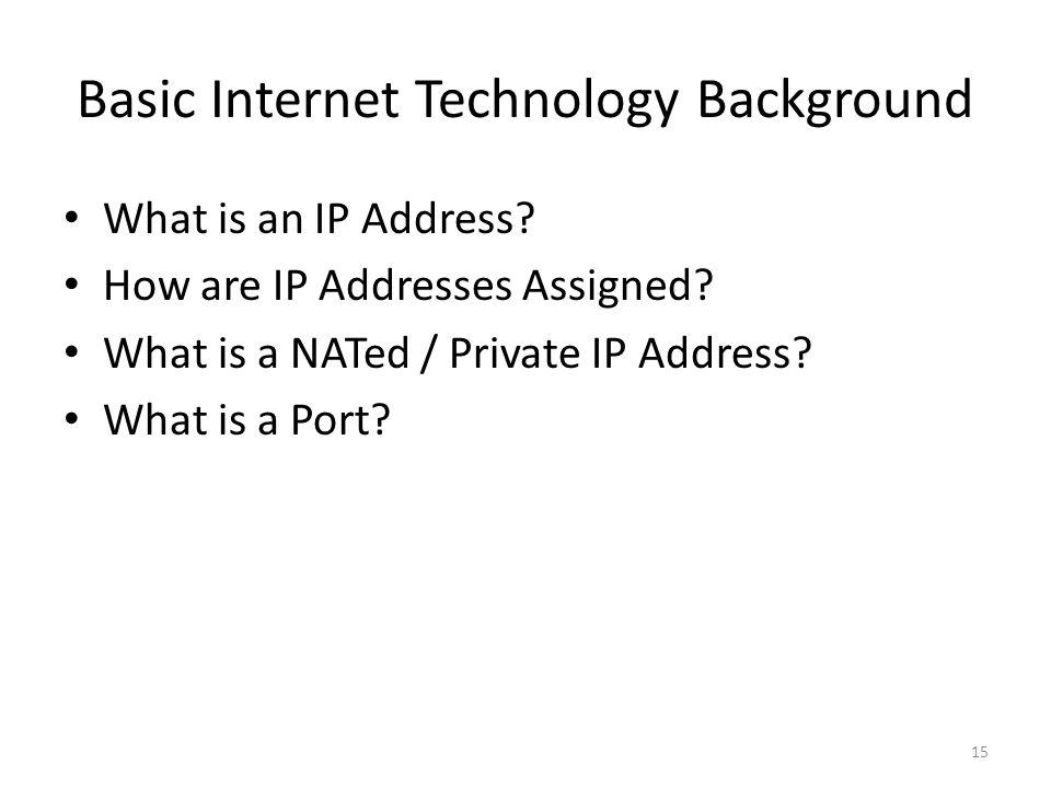 Basic Internet Technology Background