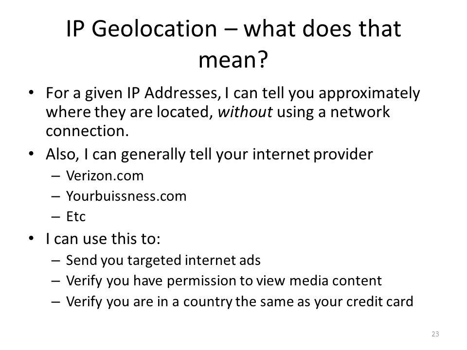 IP Geolocation – what does that mean