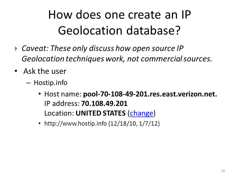 How does one create an IP Geolocation database