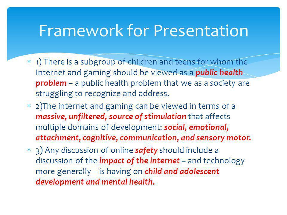 Framework for Presentation