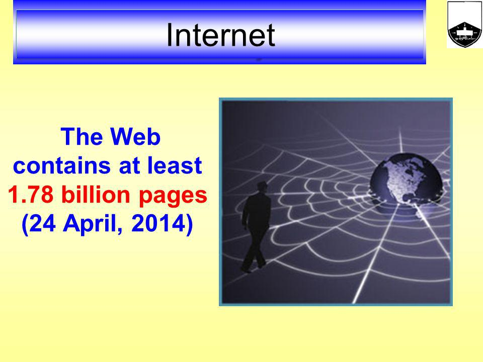 The Web contains at least 1.78 billion pages (24 April, 2014)