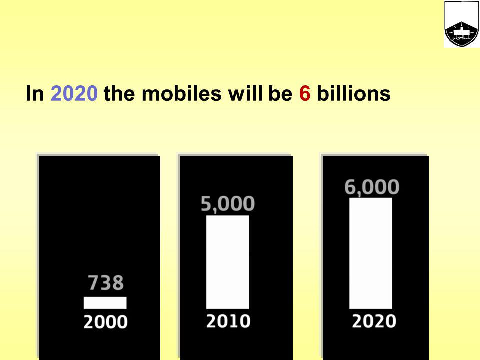 In 2020 the mobiles will be 6 billions