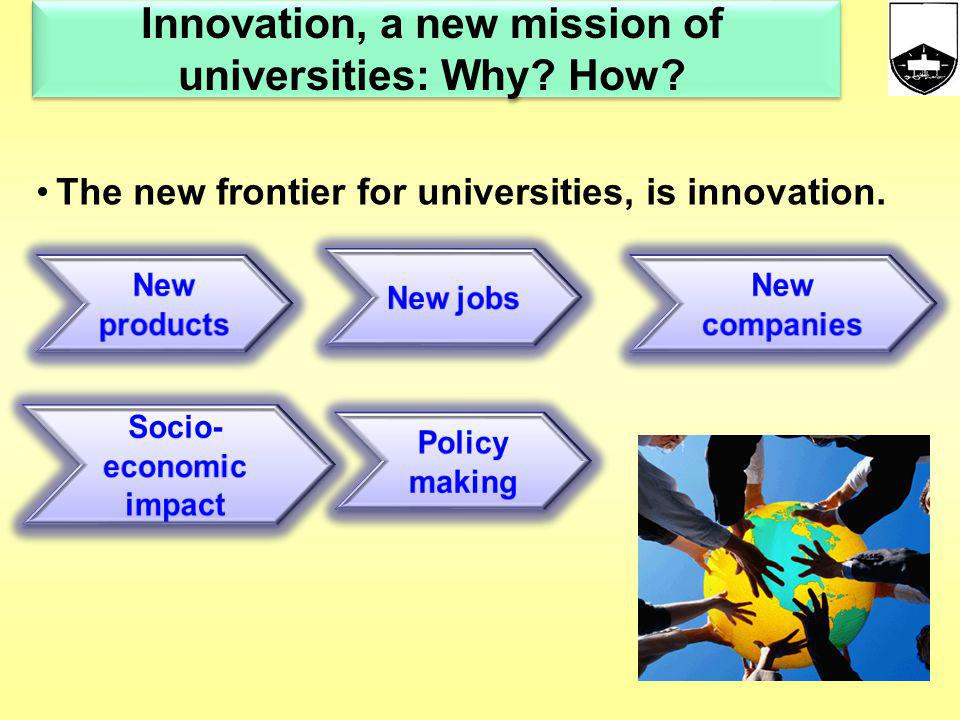 Innovation, a new mission of universities: Why How