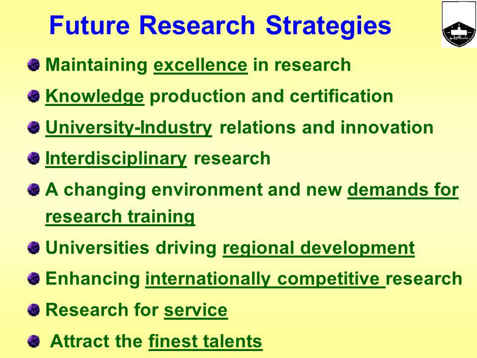Future Research Strategies