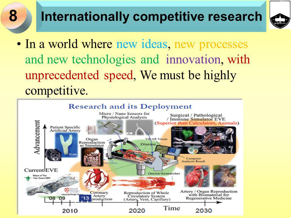 Internationally competitive research