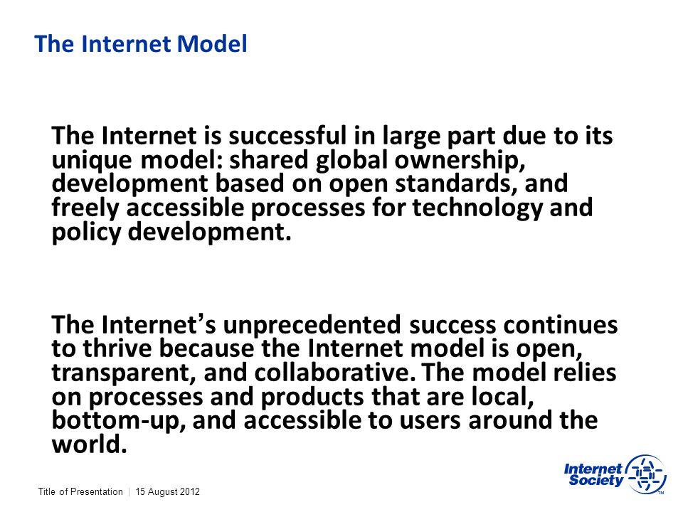 The Internet Model