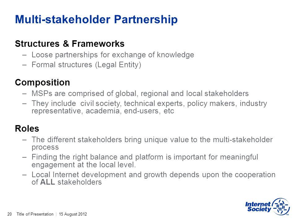 Multi-stakeholder Partnership