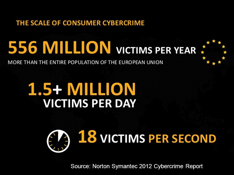 Source: Norton Symantec 2012 Cybercrime Report