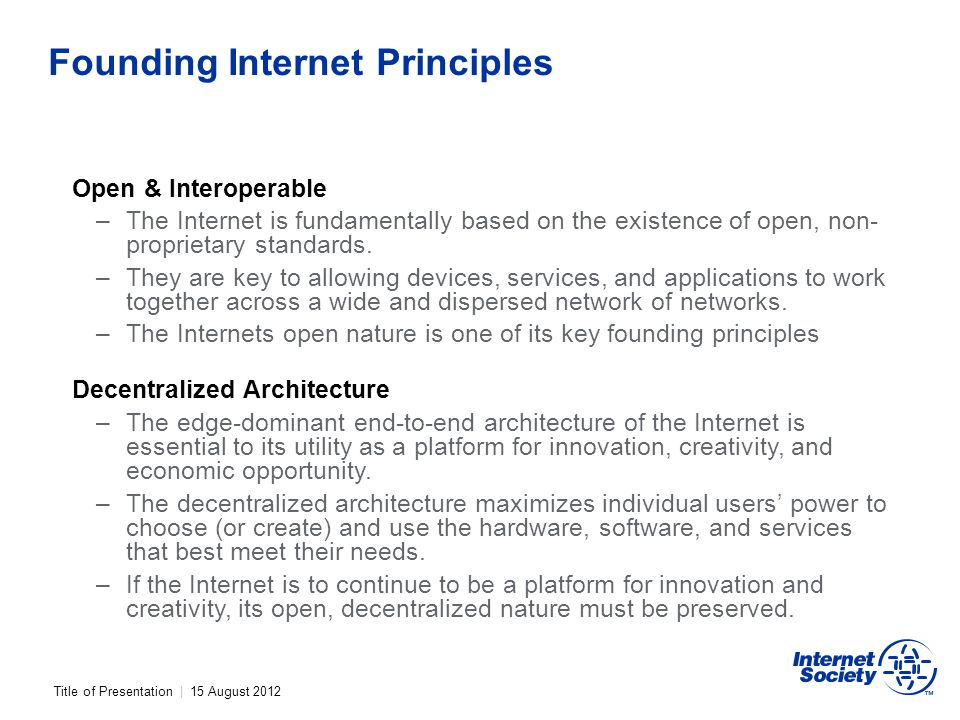 Founding Internet Principles