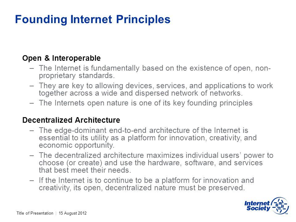 Founding Internet Principles